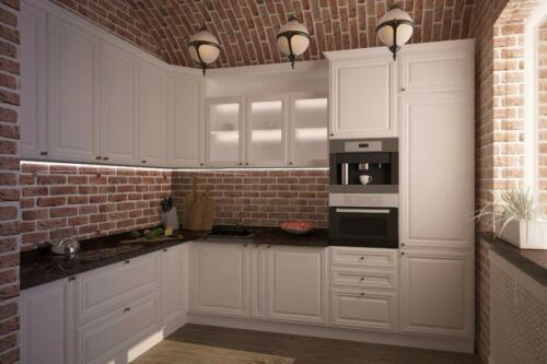 Кухня Снежинка. Размер: 2400*2900 мм., цена: 83500 руб.