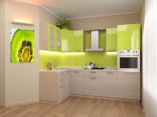 Кухня Крокус1.4*2.6м. Пластик 93000р.
